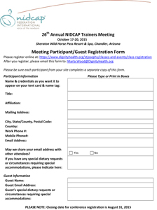Microsoft Word - 26th Annual NIDCAP Trainers Meeting Registratio