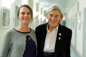 Heidelise Als and Natalie Broghammer Tuebingen