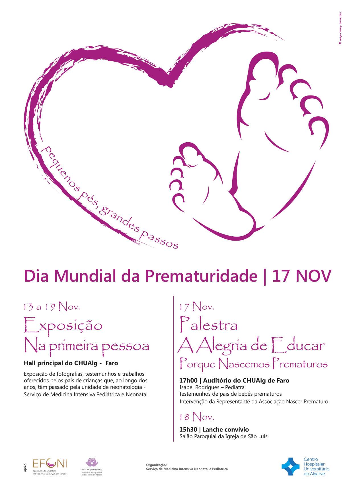 Dia Mundial da Prematuridade CHUA