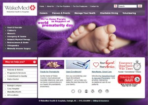 WakeMed website purple for WPD 2015