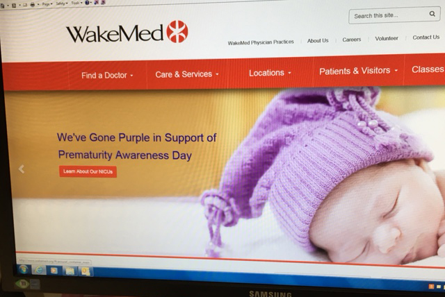 WakeMed web