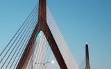 Zakim Bridge in Teal WND 20Mar2019