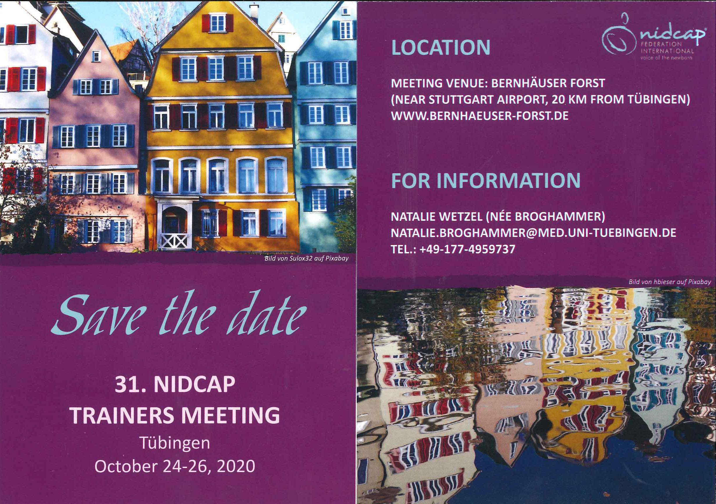 Save the Date Card NTM 2020