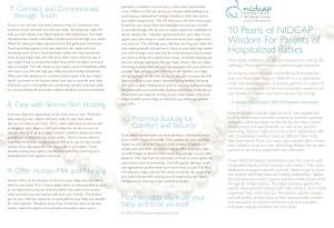 Ten Pearls of NIDCAP Wisdom image of brochure