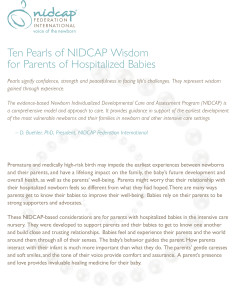 Ten Pearls of NIDCAP Wisdom multi-sheet version imagejpg
